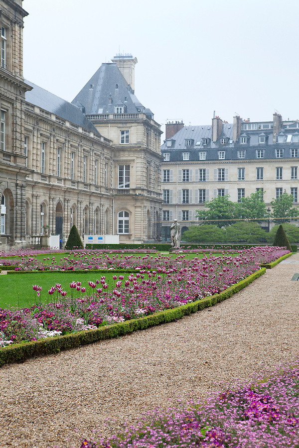 Luxembourg Gardens in Spring, Paris, France, Europe