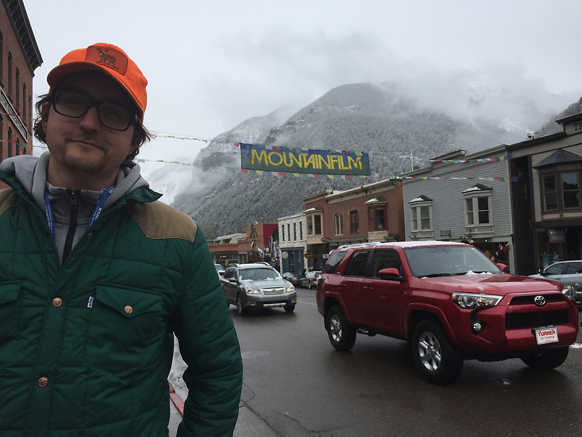 Aaron Peterson at Mountainfilm in Telluride, Colorado.