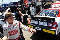 Apr 10, 2008; Avondale, AZ, USA; NASCAR Nationwide Series driver Landon Cassill during the Bashas Supermarkets 200 at the Phoenix International Raceway. Mandatory Credit: Mark J. Rebilas-