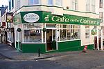 Corner cafe, Scarborough, Yorkshire, England