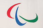 General view, JULY 24, 2015 : Paralympic logo is seen before an unveiling event for the Tokyo 2020 Olympic and Paralympic games official emblems at Tokyo Metropolitan Government Building in Tokyo July 24, 2015. The Tokyo Organising Committee of the Olympic and Paralympic Games unveiled the emblems on Friday, to mark the exactly five years before the 2020 Summer Games open in Tokyo. (Photo by AFLO)