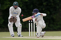 B Storey of Brondesbury during Finchley CC vs Brondesbury CC (batting), ECB National Club Championship Cricket at Arden Field on 12th May 2019