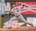 20 August 2015: Tri-City ValleyCats pitcher Zac Person on the mound against the Vermont Lake Monsters at Centennial Field in Burlington, Vermont. The Stedler Division-leading ValleyCats defeated the Lake Monsters 5-2 in NY Penn League action. Mandatory Credit: Ed Wolfstein Photo *** RAW Image File Available ****