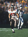 Tampa Bay Buccaneers, John Lynch (47) during a game against Green Bay Packers on November 4, 2001 at Lambeau Field  in Green Bay, Wisconsin. The Packers beat the Buccaneers 21-20. John Lynch played for 15 years with 2 different teams and was a 9-time Pro-Bowler.