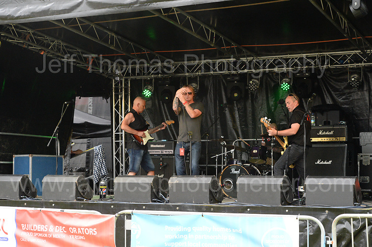 2nd band on stage were Agent 13 during the Merthyr Rising Festival 2016 in Merthyr Tydfil on Saturday June 4th and Sunday June 5th 2016. <br /> <br /> <br /> Jeff Thomas Photography -  www.jaypics.photoshelter.com - <br /> e-mail swansea1001@hotmail.co.uk -<br /> Mob: 07837 386244 -