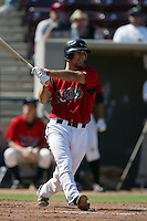 September 1 2008:  Mitch Canham of the Lake Elsinore Storm during game against the High Desert Mavericks at The Diamond in Lake Elsinore,CA.  Photo by Larry Goren/Four Seam Images