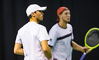 Rotterdam, The Netherlands, 11 Februari 2019, ABNAMRO World Tennis Tournament, Ahoy, first round doubles: Ben McLachlan (JPN) - Jan-Lennard Struff (GER) (R),<br /> Photo: www.tennisimages.com/Henk Koster
