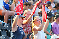 England fans enjoying the sunshine during the Hockey World League Semi-Final match between England and Argentina at the Olympic Park, London, England on 18 June 2017. Photo by Steve McCarthy.