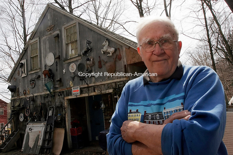 WATERTOWN, CT-12 April 2006-041206TK05-  Watertown's Daniel Zuraitis, who has spent much of his life woodcarving and in carpentry, also is an accomplished poet. Zuraitis is recognized by the International Society of Poetry in 2005.   Tom Kabelka Republican-American (Daniel Zuraitis)