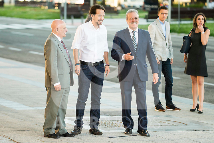 The president of Podemos, Pablo Iglesias attends to the debate between the 4 principals candidates at Palacio de Congresos in Madrid. June 13, 2016. (ALTERPHOTOS/BorjaB.Hojas)
