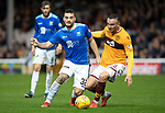 Motherwell v St Johnstone&hellip;20.10.18&hellip;   Fir Park    SPFL<br />Tony Watt and Tom Aldred<br />Picture by Graeme Hart. <br />Copyright Perthshire Picture Agency<br />Tel: 01738 623350  Mobile: 07990 594431