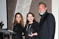 BURBANK - APR 27: Leyna Nguyen, Kim McManus, Erwin McManus at the Faith, Hope and Charity Gala hosted by Catholic Charities of Los Angeles at De Luxe Banquet Hall on April 27, 2019 in Burbank, CA