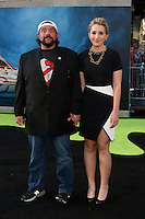 HOLLYWOOD, CA - JULY 9: Kevin Smith, Harley Quinn Smith at the premiere of Sony Pictures' 'Ghostbusters' held at TCL Chinese Theater on July 9, 2016 in Hollywood, California. Credit: David Edwards/MediaPunch