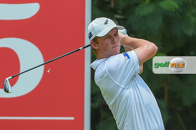 Daniel HILLIER (NZL) watches his tee shot on 5 during Rd 2 of the Asia-Pacific Amateur Championship, Sentosa Golf Club, Singapore. 10/5/2018.<br /> Picture: Golffile | Ken Murray<br /> <br /> <br /> All photo usage must carry mandatory copyright credit (© Golffile | Ken Murray)