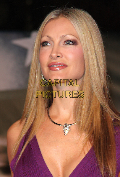 """Caprice Bourret.The """"Michael Jackson : The Life Of An Icon"""" UK premiere, Empire cinema, Leicester Square, London, England..2nd November 2011.headshot portrait purple necklace .CAP/ROS.©Steve Ross/Capital Pictures."""