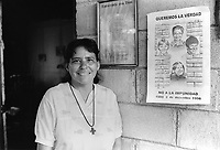 Sister Naomi, from the community of Nueva Esperanza, El Salvador, 1999.