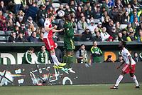 Portland, Oregon - Sunday, April 2, 2017.  Portland Timbers vs. the New England Revolution in a match at Providence Park. Final Score: Portland Timbers 1, New England Revolution 1