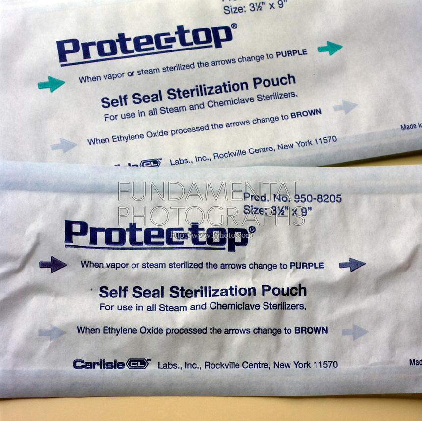 STERILIZATION INDICATOR POUCH (Variations Available)<br />