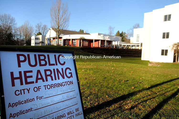 TORRINGTON, CT, 13 NOV 13- 111313AJ02- The Michael R. Koury Terrace affordable housing complex on Tucker Drive may be getting new neighbors if Slaiby Village is approved by the city. The new complex would have 115 unites of affordable housing.  Alec Johnson/ Republican-American