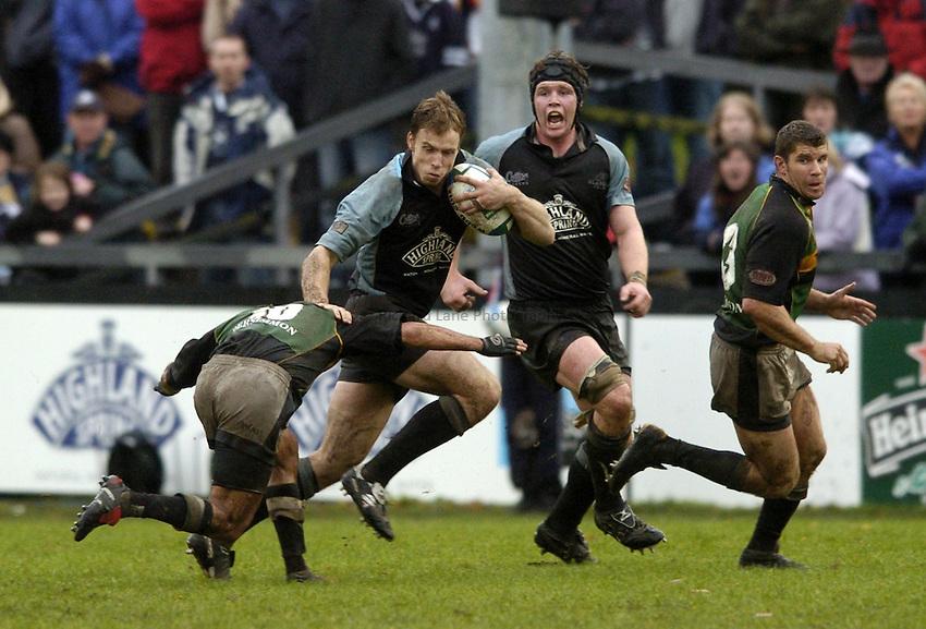 Photo. Jed Wee..Glasgow Warriors v Northampton Saints, Heineken Cup, 24/10/2004..Glasgow's Andrew Henderson.