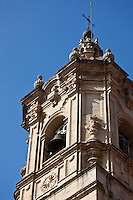Europe/Espagne/Pays Basque/Guipuscoa/Fontarrabie:  Clocher de l'église Notre-Dame-de-l'Assomption
