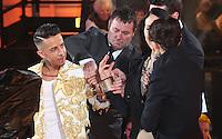 Dappy, Liz Jones, Emma Willis at Celebrity Big Brother 2014 - Contestants Enter The House, Borehamwood. 03/01/2014 Picture by: Henry Harris / Featureflash