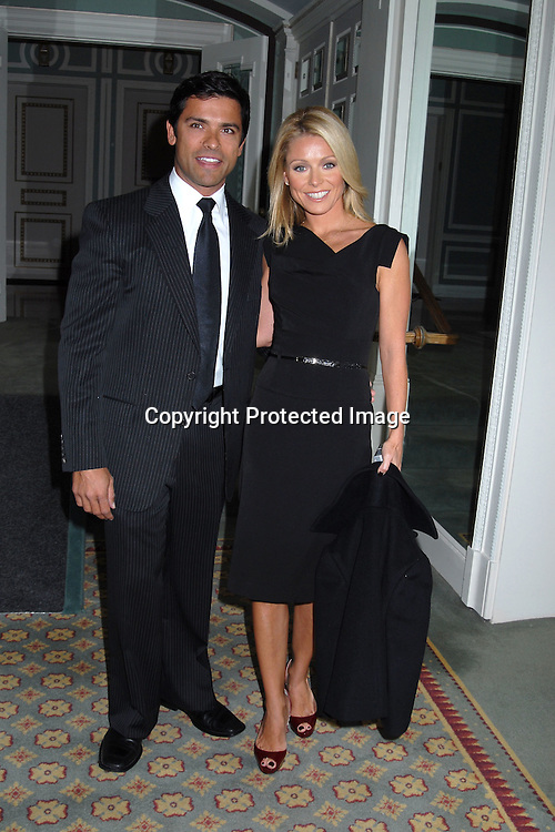 Mark Consuelos and wife Kelly Ripa..at The 18th Annual PAL  Women of the Year Luncheon  ..on October 17, 2006 at The Pierre Hotel. ..The honorees were Claudia Cohen, Pamela Thomas-Graham, Diana L Taylor and Melania Trump...Robin Platzer, Twin Images