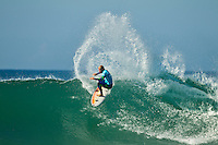 """JEFFREYS BAY, South Africa (Thursday, July 21, 2011) - After waiting for the optimal tide this morning, event organizers at the Billabong Pro Jeffreys Bay called competition back on with the remaining six heats of Round 2 commencing at 10:15am.. .Event No. 4 of 11 on the 2011 ASP World Title season, the Billabong Pro Jeffreys Bay has endured a rough patch of swell over the past several days, but this morning's clean, consistent three-to-four foot (1.5 metre) waves have been well worth the wait.. .""""Conditions have significantly improved this morning and we'll commence the remaining six heats of Round 2 at 10:30am, Rich Porta, ASP International Head Judge, said. """"We'll put the first six heats of Round 3 on standby as well and will monitor the swell throughout the day."""". .Surfline, official forecasters for the Billabong Pro Jeffreys Bay, are calling for a solid SSW swell to begin filling in today and build through the weekend. .Photo: joliphotos.com"""