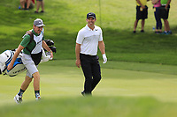 Paul Casey (ENG) and John Mclaren walk to the 9th green during Sunday's Final Round of the WGC Bridgestone Invitational 2017 held at Firestone Country Club, Akron, USA. 6th August 2017.<br /> Picture: Eoin Clarke | Golffile<br /> <br /> <br /> All photos usage must carry mandatory copyright credit (&copy; Golffile | Eoin Clarke)