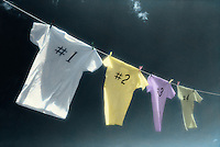 T-shirts on clothesline, competition