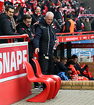 10.02.2018, Stadion an der Wuhlheide, Berlin, GER, 2.FBL, 1.FC UNION BERLIN  VS. Fortuna Duesseldorf, im Bild <br /> Cheftrainer (Head Coach) Andre Hofschneider(1.FC Union Berlin)<br /> <br />      <br /> Foto &copy; nordphoto / Engler