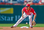 19 September 2015: Washington Nationals second baseman Anthony Rendon warms up prior to a game against the Miami Marlins at Nationals Park in Washington, DC. The Nationals defeated the Marlins 5-2 in the third game of their 4-game series. Mandatory Credit: Ed Wolfstein Photo *** RAW (NEF) Image File Available ***