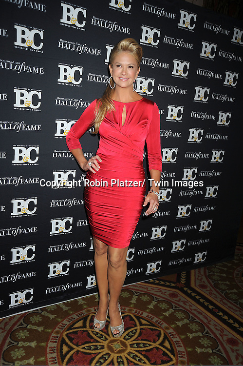 Nancy O'Dell  attends the 2011 Broadcasting & Cable Hall of Fame Awards on October 26, 2011 at the Waldorf Astoria Hotel in New York City.