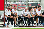 GUANGZHOU, GUANGDONG - JULY 26:  Head coach Jupp Heynckes (L) and head of sports Matthias Sammer of Bayern Munich sit on the bench on before a friendly match against VfL Wolfsburg as part of the Audi Football Summit 2012 on July 26, 2012 at the Guangdong Olympic Sports Center in Guangzhou, China. Photo by Victor Fraile / The Power of Sport Images