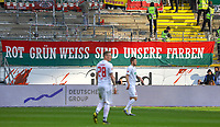 Viele leere Plätze im Gästeblock - 14.04.2019: Eintracht Frankfurt vs. FC Augsburg, Commerzbank Arena, 29. Spieltag DISCLAIMER: DFL regulations prohibit any use of photographs as image sequences and/or quasi-video.