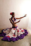 MAURITIUS, Surinam, a young woman Sega dancer, Cyndia Venratachullum, poses for a portrait in her home