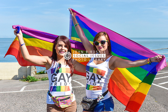 Two local girls look forward to participating in the Kent Pride celebrations in the seaside town of Margate.