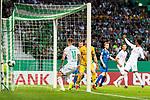 10.08.2019, wohninvest WESERSTADION, Bremen, GER, DFB-Pokal, 1. Runde, SV Atlas Delmenhorst vs SV Werder Bremen<br /> <br /> im Bild<br /> Tor 0:2, <br /> Niklas Moisander (Werder Bremen #18) mit Torschuss und Treffer zum 0:2 gegen Florian Urbainski (SV Atlas Delmenhorst #01), <br /> <br /> während DFB-Pokal Spiel zwischen SV Atlas Delmenhorst und SV Werder Bremen im wohninvest WESERSTADION, <br /> <br /> Foto © nordphoto / Ewert