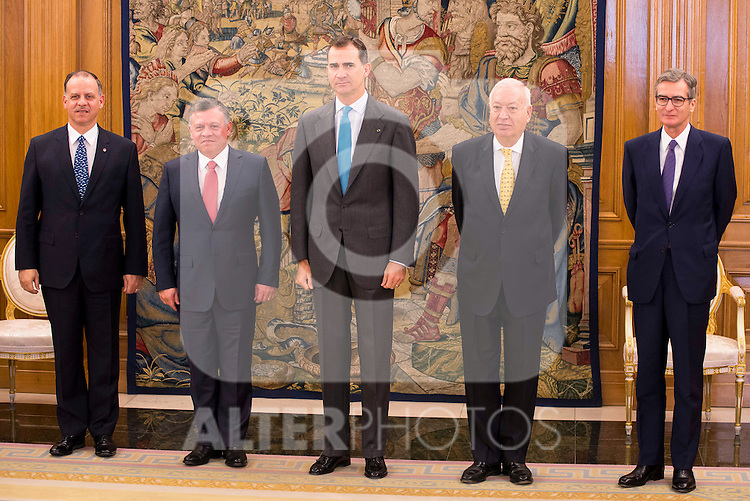 King Felipe VI of Spain at the meeting with the King Abdala II of Jordan at Zarzuela Palace in Madrid, November 20, 2015<br /> (ALTERPHOTOS/BorjaB.Hojas)