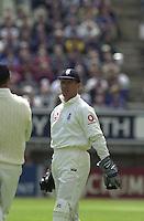 30/05/2002.Sport -Cricket - 2nd NPower Test -First Day.England vs Sri Lanka.England wicketkeeper Alex Stewart [Mandatory Credit Peter Spurrier:Intersport Images]