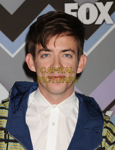 Kevin McHale.arriving at the 2013 TCA Winter Press Tour - FOX All-Star Party at The Langham Huntington Hotel and Spa in Pasadena, California, USA, .January 8th, 2013.   .portrait headshot white shirt blue .CAP/ROT/TM.©Tony Michaels/Roth Stock/Capital Pictures