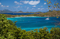 Hawsknest Bay, looking towards Caneel Bay and St. Thomas<br /> Virgin Islands National Park<br /> St. John, U.S. Virgin Islands