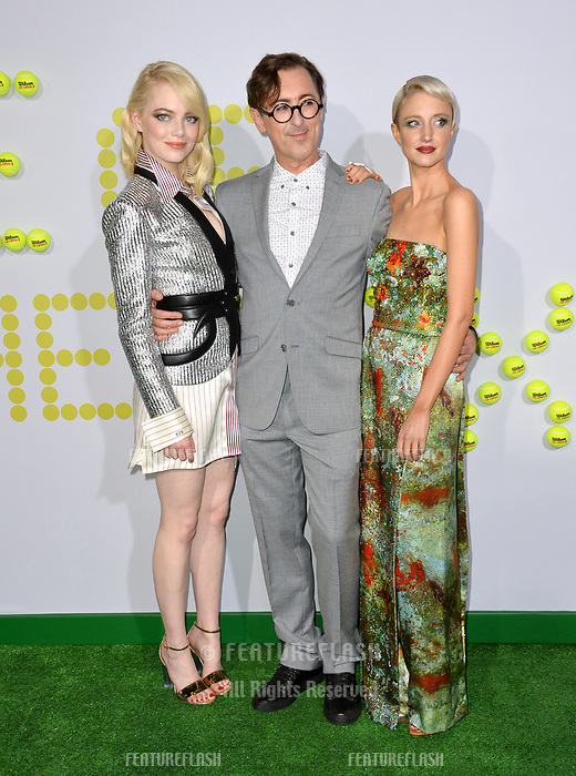 Emma Stone, Alan Cumming, Andrea Riseborough at the premiere for &quot;Battle of the Sexes&quot; at the Regency Village Theatre, Westwood, Los Angeles, USA 16 September  2017<br /> Picture: Paul Smith/Featureflash/SilverHub 0208 004 5359 sales@silverhubmedia.com