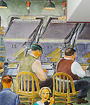 1934 WPA mural in Coit Tower, San Francisco, CA featuring newsgathering. (Bob Gathany/bgathany@AL.com)
