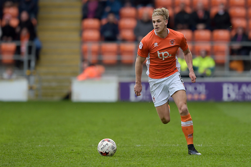 Blackpool's Brad Potts<br /> <br /> Photographer Terry Donnelly/CameraSport<br /> <br /> The EFL Sky Bet League Two - Blackpool v Accrington Stanley - Friday 14th April 2017 - Bloomfield Road - Blackpool<br /> <br /> World Copyright &copy; 2017 CameraSport. All rights reserved. 43 Linden Ave. Countesthorpe. Leicester. England. LE8 5PG - Tel: +44 (0) 116 277 4147 - admin@camerasport.com - www.camerasport.com