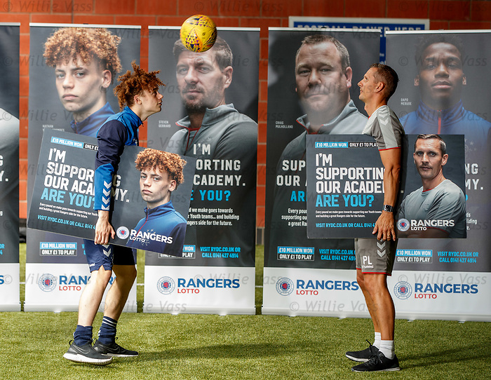 05.08.2019 Rangers RYDC Launch new Lotto Campaign. <br /> Nathan Young-Coombes and Peter Lovenkrands