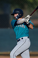 AZL Mariners Brennon Kaleiwahea (13) at bat during an Arizona League game against the AZL D-backs on July 3, 2019 at Salt River Fields at Talking Stick in Scottsdale, Arizona. The AZL D-backs defeated the AZL Mariners 3-1. (Zachary Lucy/Four Seam Images)