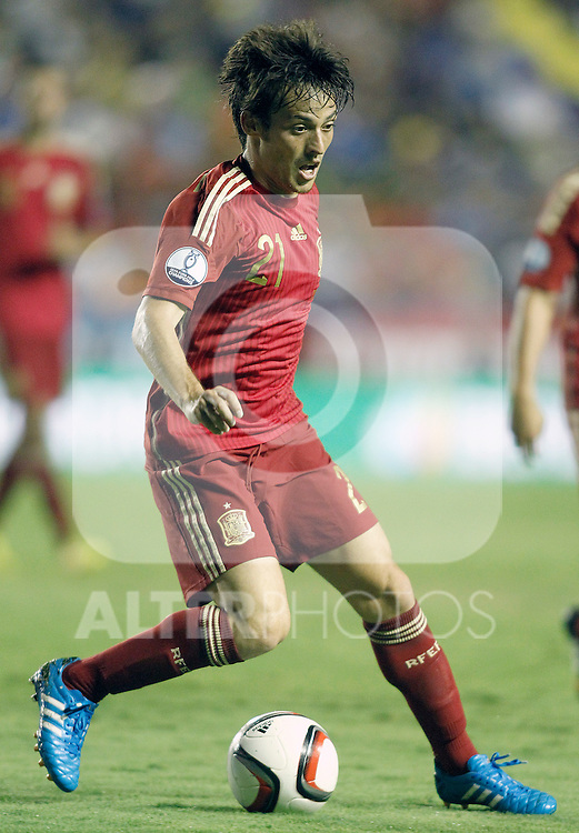 Spain's David Jimenez Silva during 15th UEFA European Championship Qualifying Round match. September 8,2014.(ALTERPHOTOS/Acero)