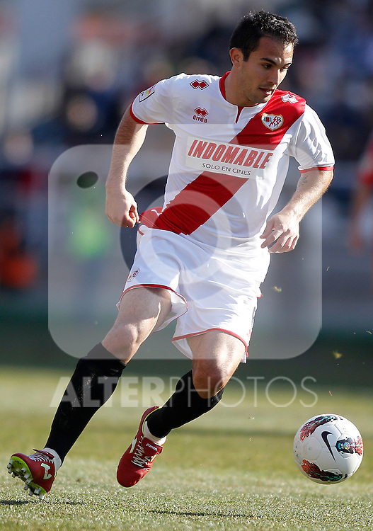 Rayo Vallecano's Alberto Perea during La Liga Match. February 26, 2012. (ALTERPHOTOS/Alvaro Hernandez)