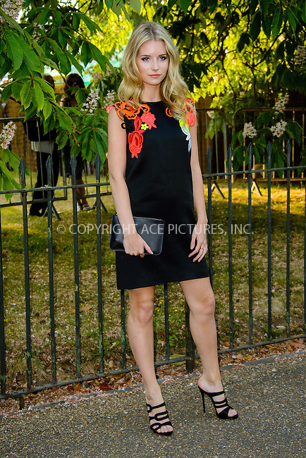 WWW.ACEPIXS.COM<br /> <br /> July 2 2015, New York City<br /> <br /> Lottie Moss arriving at The Serpentine Gallery summer party at The Serpentine Gallery on July 2, 2015 in London, England<br /> <br /> By Line: Famous/ACE Pictures<br /> <br /> <br /> ACE Pictures, Inc.<br /> tel: 646 769 0430<br /> Email: info@acepixs.com<br /> www.acepixs.com